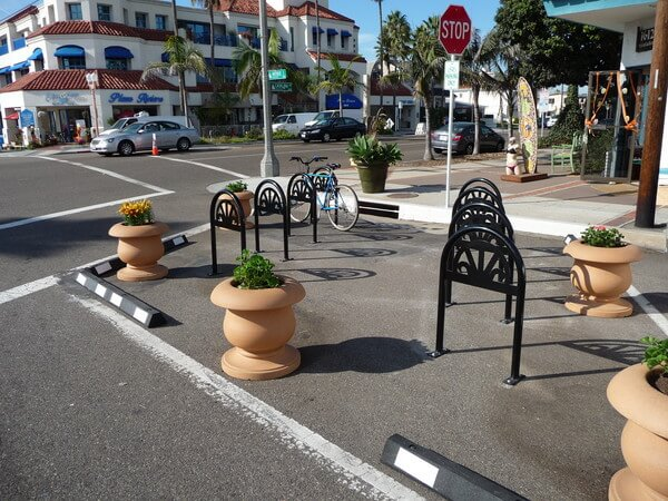 Bike Corral in Redondo Beach, California