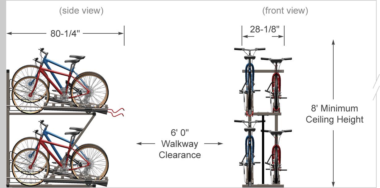 Hi Density Bike Racks