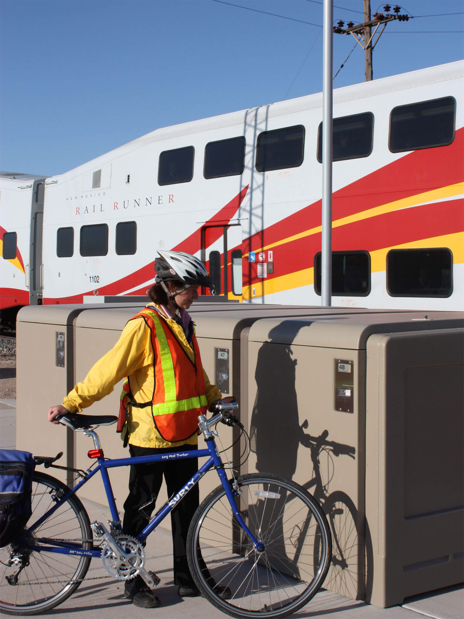 ProPark Bike Locker, New Mexico Rail