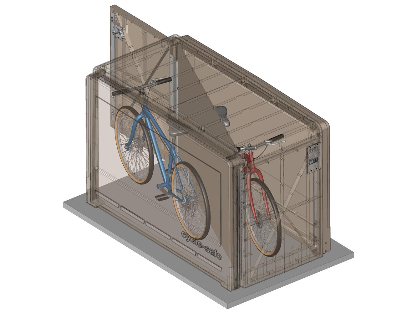 Propark Standard Model Bike Locker Cyclesafe