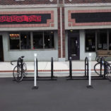 Bike Corral in Grand Rapids, Michigan