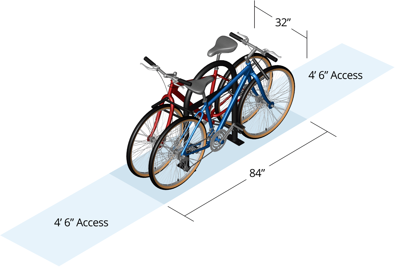 Bike Parking Layout And Design Dimensions Cyclesafe