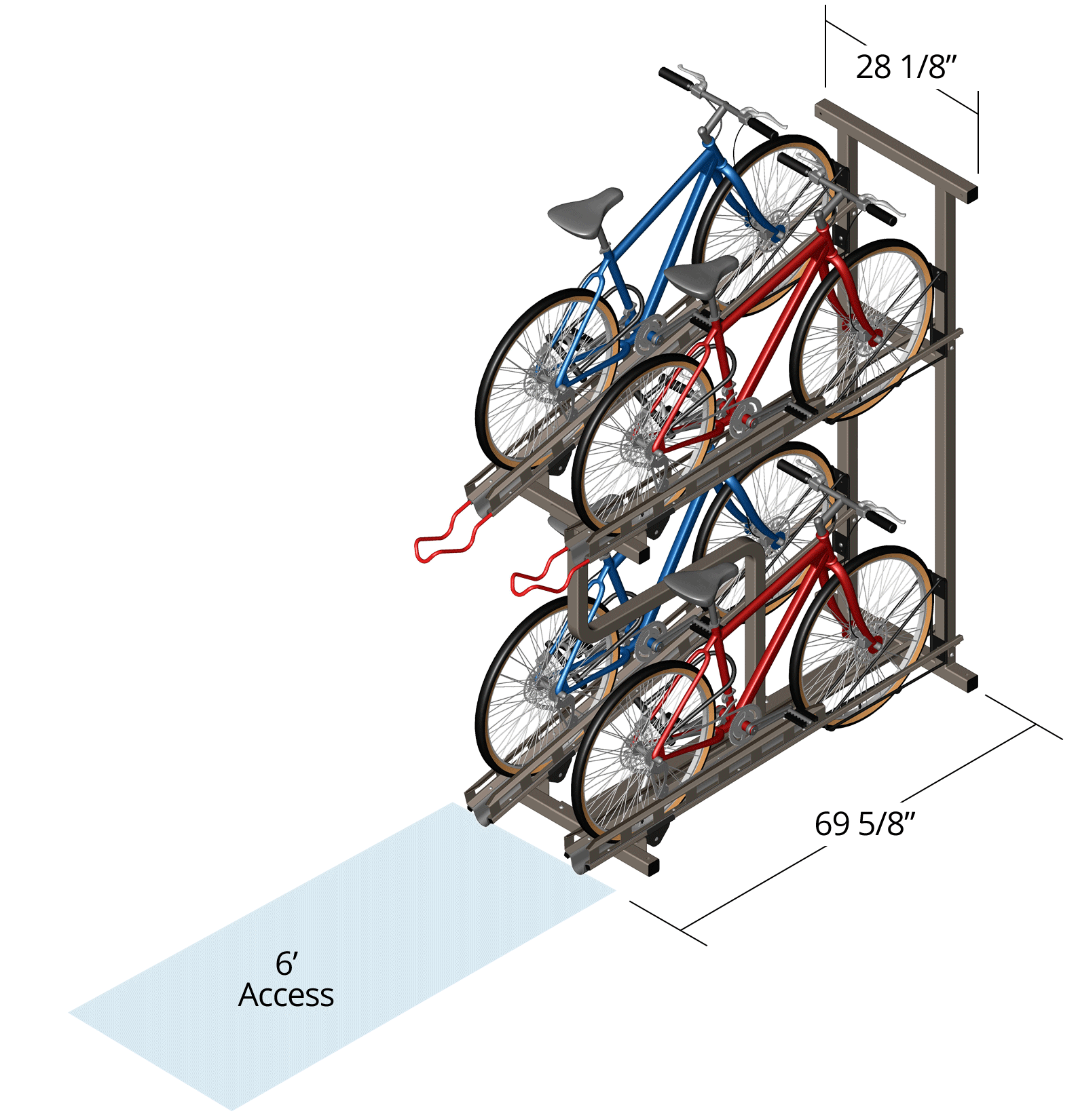 High-Density Bike Rack Dimensions
